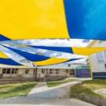 Sunset-Yellow-and-Royal-Blue-Z16-school-shade-sails